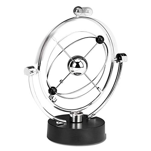 SODIAL Perpetual Motion Desk Sculpture Toy - Kinetic Art Galaxy Planet Balance Mobile - Magnetic Executive Office Home Decor Tabletop Toy - Men Women Stress Relief