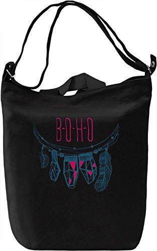 Boho Borsa Giornaliera Canvas Canvas Day Bag| 100% Premium Cotton Canvas| DTG Printing|