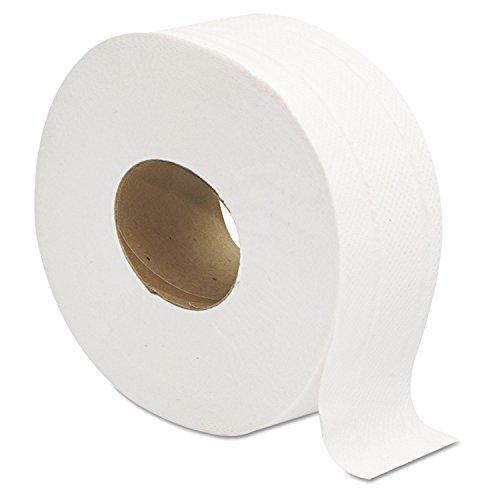 Jumbo JRT Ultra Bath Tissue, 2-Ply, White, 9 in Diameter (Case of 12 (Office Bathroom Tissue)