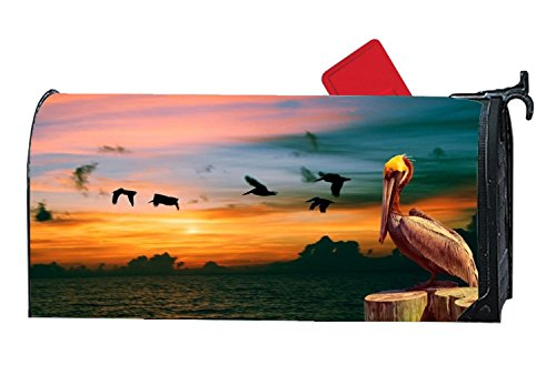 buxten Fashion Mailbox Makeover Pelican Birds Lightweight Personalized Mailbox Covers Yard Magnetic by buxten