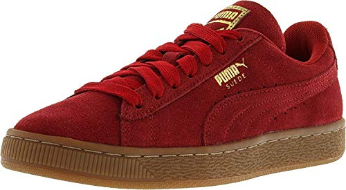 PUMA Mens Suede Classic Low Top Lace Up Fashion Sneakers, Red, Size 8.5