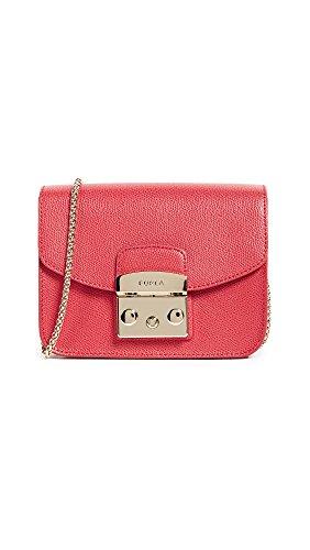 Furla Women's MeTropolis Mini Crossbody Cross-Body Bag Red (Ruby)