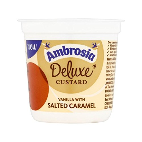 Ambrosia Deluxe Custard Vanilla & Salted Caramel 150g - Pack of 4