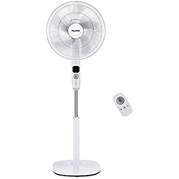 "Oscillating Pedestal Fan, Turbo Silence Stand Fan 16"", Powerful and Quiet with 12 Speed, 12 Hour On/Off Timer, 3 Modes, Remote Control, by Pelonis"