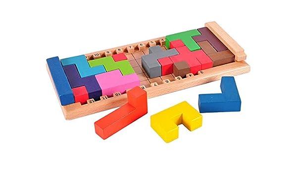Amazoncom Classic Iq Brain Teaser 2d 3d Logic Wooden Puzzle