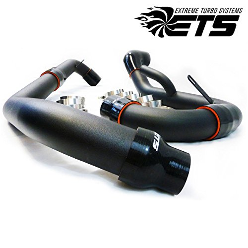 Lower Intercooler Pipe - ETS Upper and Lower Wrinkle Black Intercooler Pipe Kit for Mitsubishi Evo X 10