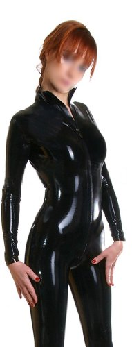 Lame Zipper Front Catsuit Adult Costume Starter - Small (Lame Catsuit)