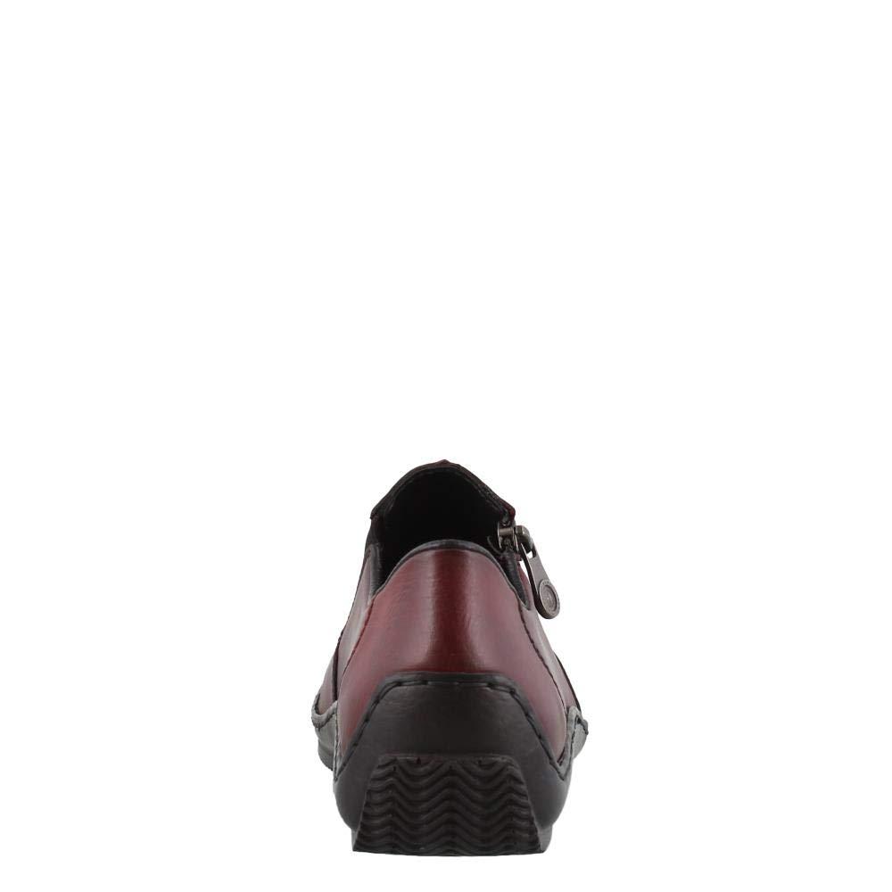Rieker Damen Slipper L1780,Frauen Halbschuh,Schlüpfschuh,modisch,feminin,elegant,Blockabsatz 2.2cm