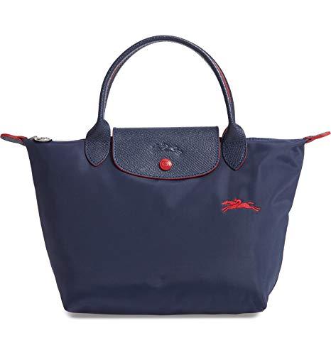 Longchamp 'Small Le Pliage Nylon Club Tote Top Handle Bag, Navy (Longchamp Tote Navy)
