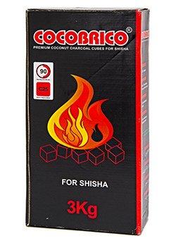CocoBrico Hookah, Shisha Coconut Charcoals - 216 pieces (CUBES)