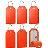Mini Luggage Tag with Full Privacy Cover and Stainless Steel Loop (6pk