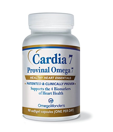 Cardia 7 - Purified Provinal Omega 7 Fatty Acids - Compare to Omega 3-6-9 and See the Benefits - A Great No Fish Smell, No Burp-Back, No Fish Taste Alternative to Fish Oil Capsules