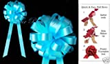 10 TEAL BLUE WEDDING 8'' PULL PEW BOWS BRIDAL DECORATION