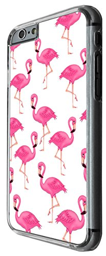 947 - Cool cute fun flaminfo doodle collage kawaii pink illustration pink birds Design For iphone 6 Plus / iphone 6 Plus S 5.5'' Fashion Trend CASE Back COVER Plastic&Thin Metal -Clear