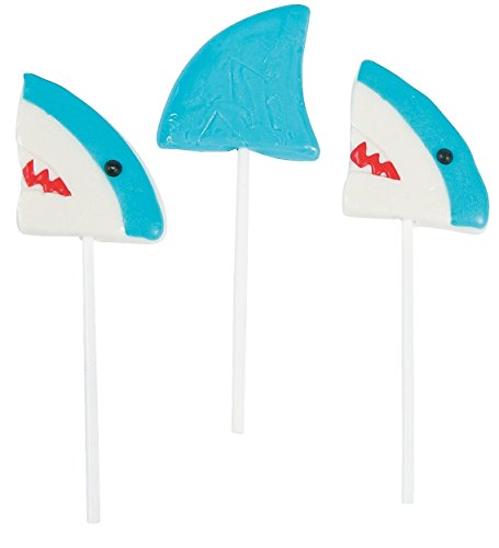 Shark Character Lollipops (12 Pack) Mixed-fruit Flavored Suckers