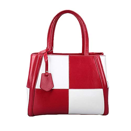 Red Capacité tout Cuir à ASDYY Sac Sac Grande Bandoulière à Mode Dames Fourre Décontractée En Sac Sac Main 8ZwTqU