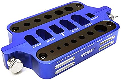 Integy RC Model Hop-ups C28450GREY Alloy Machined Universal Connectors /& Plugs Workstation Soldering Jig
