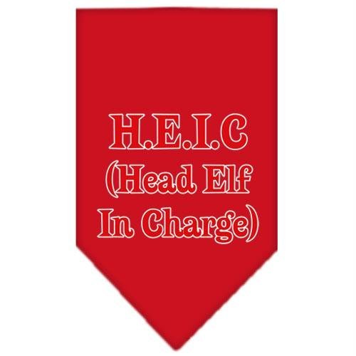 Mirage Pet Products Head Elf in Charge Screen Print Bandana