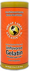 Great Lakes - Beef Gelatin - 16 oz. (1 lb) 454 grams              Beef Gelatin Collagen Joint Care is an excellent source of protein, and can not be recovered from hoofs, horn or non-collagen parts of vertebrate animals. There...