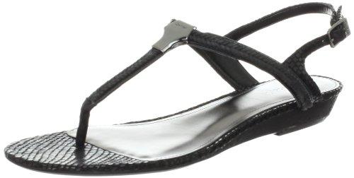 Calvin Klein Women's Braelyn Snake Shiny S Nappa Thong Sandal
