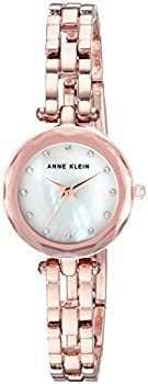 Anne Klein Women's Rose Gold-Tone Mother of Pearl Bracelet Watch