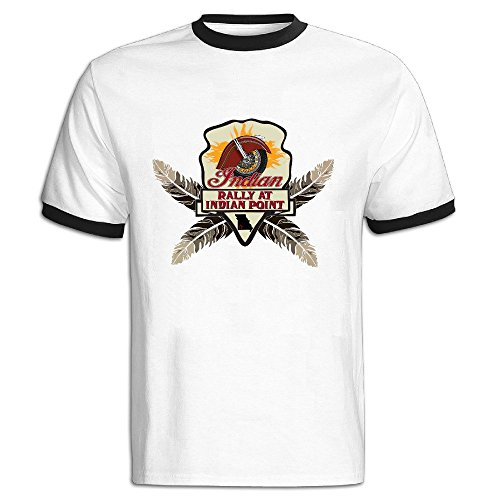 Price comparison product image Indian Motorcycle Color blocking Short Tshirt Men Tshirts At Leisure