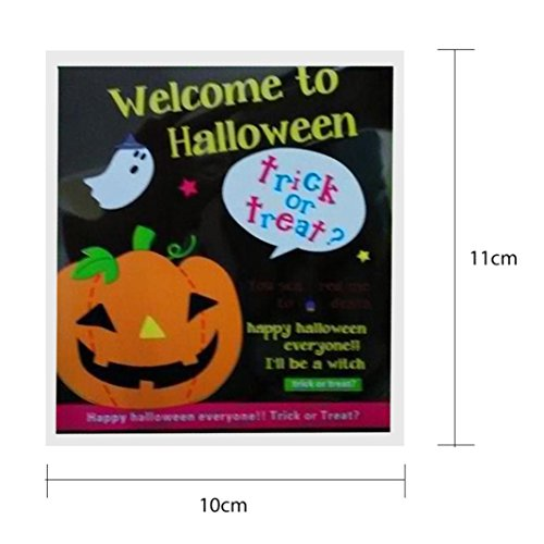 2017 Halloween Candy Bags,Elevin(TM)100 pcs Happy Halloween Children Kid Candy Bag Snack Packet Gift Candy Boxes Bags Anniversary Party Home Decor (A)