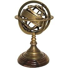 Urban Designs 7744382 Imported Armillary Sphere World Globe Table & Studio Decor,Brass