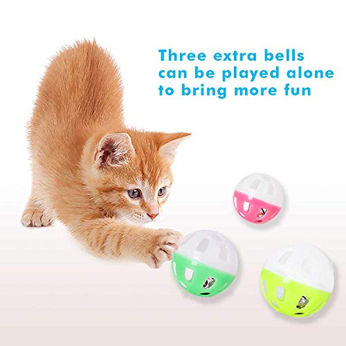 Upsky Cat Toy Roller Cat Toys 3 Level Towers Tracks Roller with Six Colorful Ball Interactive Kitten Fun Mental Physical Exercise Puzzle Toys … 6