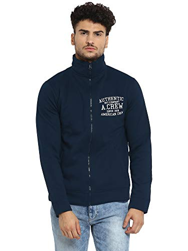AMERICAN CREW Men's Full Sleeves Bomber Jacket Winter Wear