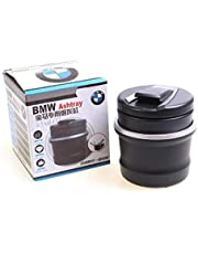 Portable Detachable Car Ashtray Cigarette Smoke Cup Storage Holder with Blue LED Light for BMW
