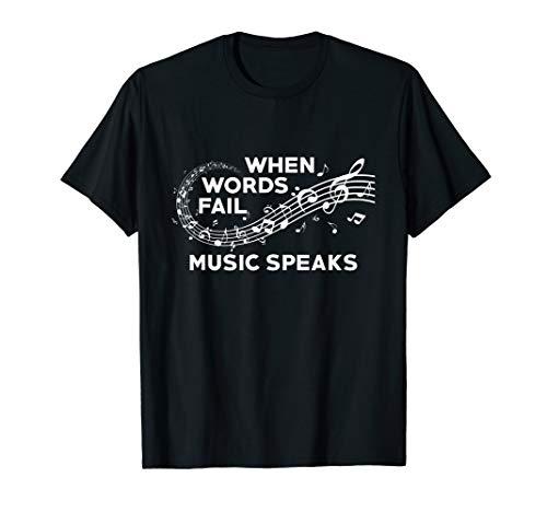 When Words Fail, Music Speak Graphic Teacher Music Notes  (Best Music Teachers)