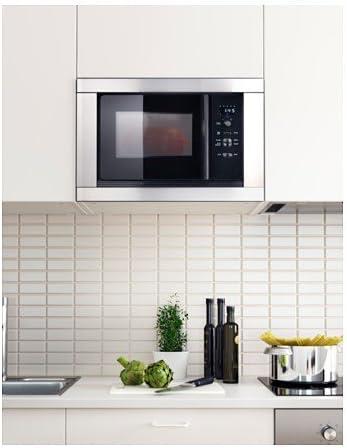 Ikea värma Microondas de acero inoxidable; (700 W): Amazon.es: Hogar