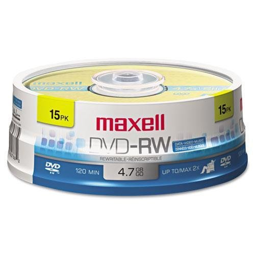 Maxell 4x DVD-RW Media - T40315 by Maxell