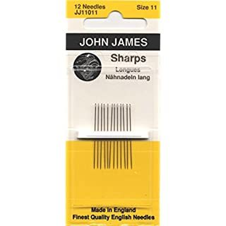 Colonial Needle JJ110-11 12 Count John James Sharps Needles, Size 11