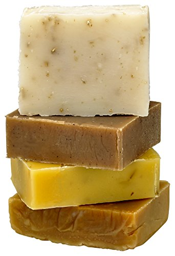 Soap Family Wellness Kit - All natural ingredients and pure essential oils - This set includes Lemongrass, Orange Vanilla, Honey Almond, and Oatmeal soaps.