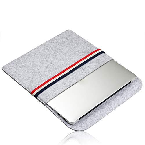 15 Compatible MacBook Pro//Air 13 Daliuing Housse de Transport en Feutre /à Rayures pour Ordinateur Portable 11 33 cm Grey-13 inch