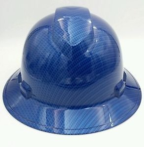 Wet Works Imaging Customized Pyramex Full Brim Candy Blue Carbon