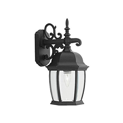 Designers Fountain 2421-BK Tiverton 8 Inch Wall Lantern Tiverton 1 Light Cast