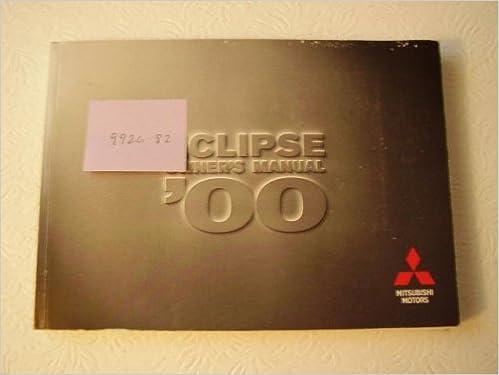 mitsubishi eclipse 2000 owners manual