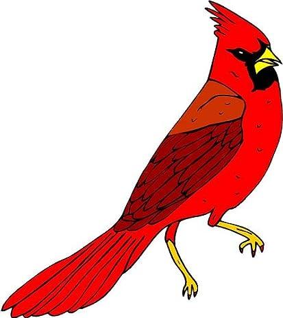 Amazoncom Vibrant Red Cardinal Bird Etched Vinyl Stained Glass - Bird window stickers amazon