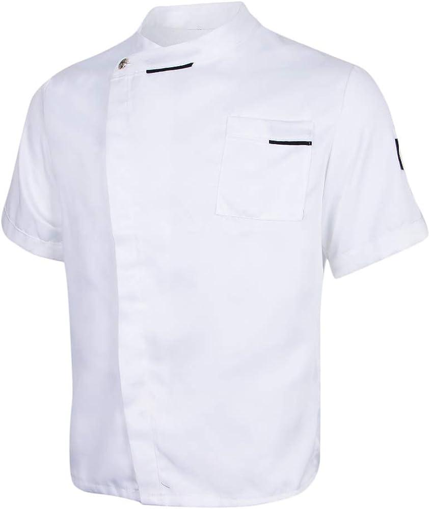 IPOTCH Chaqueta Unisex Solid Jacket Coat Hotel Waiter Uniforme ...