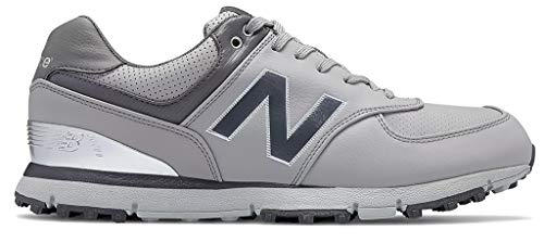 New Balance Men's NBG574B Spikeless Golf Shoe, Grey/Yellow, 15 4E US