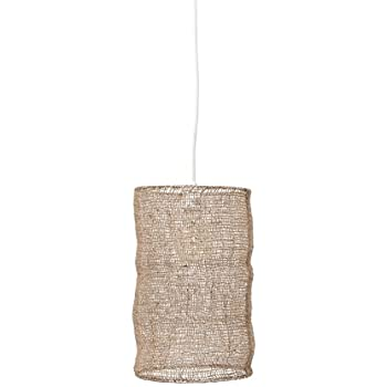 Amazon Com Bloomingville Jute Pendant Lamp Home Kitchen