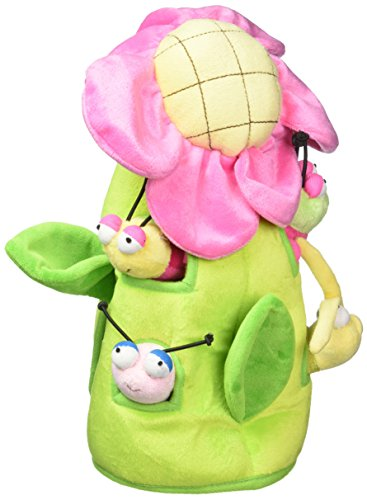 Plush Bug Flower House with Bugs - Five (5) Stuffed Animal Bugs and Butterflies in Play Flower Carrying House ()