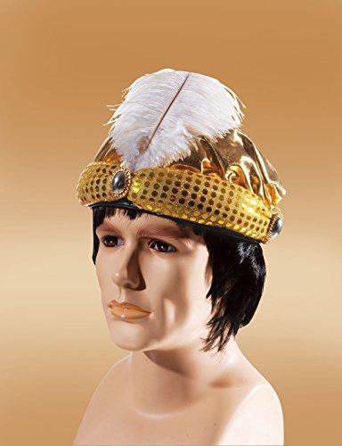 Loftus International Loftus Arabian Prince with Feather Costume Hat, Gold, One Size Novelty Item -