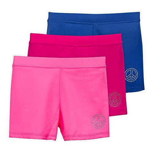 Lucky & Me Ella Girls Dance Shorts, Gymnastics & Dancewear, Pink Lemonade, 3-Pack, 6