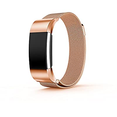 For fitbit charge 2 Bands,TreasureMax Stainless Steel Replacement Accessory Bracelet Band,Large,Small,Metal Bands for Fitbit Charge 2/Charge 2 Bands/Fitbit Charge 2 Bands(No Tracker)