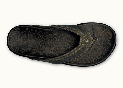 91d02a62f Galleon - OLUKAI Hiapo - Mens Supportive Sandal Seal Brown/Black - 8
