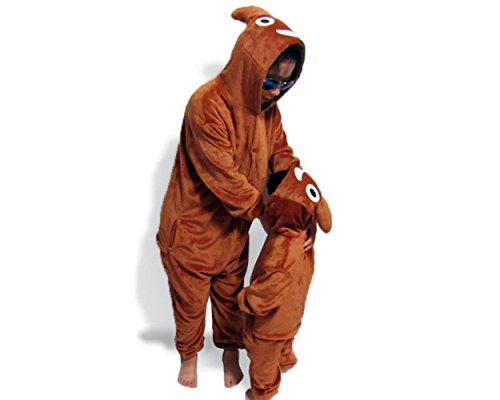 Poo Costumes (Unisex Children Poo Emoji Pajamas Emoticon Onesie Costume Sleepwear 105)